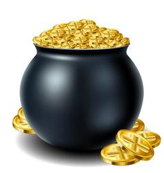 St Patricks day cauldron vector image