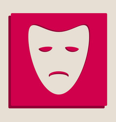 Tragedy theatrical masks grayscale vector