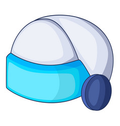 virtual reality helmet icon cartoon style vector image vector image