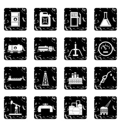 Oil industry items icons set vector