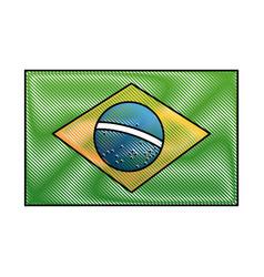 Brazil national flag insignia nation image vector