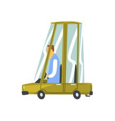 Cartoon car vehicle vector