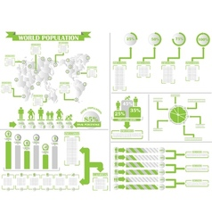 Infographic demographics 4 green vector