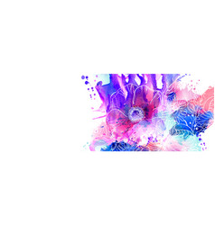 Hand drawn floral  abstract vector