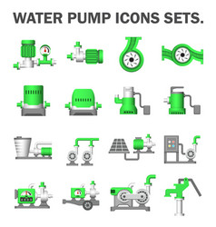 Water pump station vector