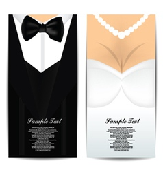 Bride and groom invitation vector
