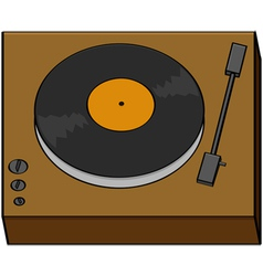 Cartoon turntable vector
