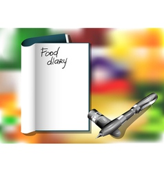 Food diary vector