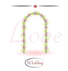 Wedding arch decorated with flowers vector