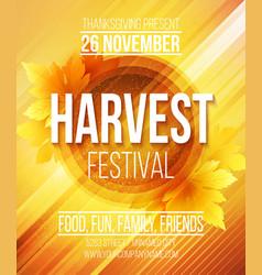 Harvest Festival Poster vector image