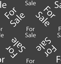 For sale sign icon real estate selling seamless vector