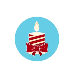 Icon colorful christmas candle vector