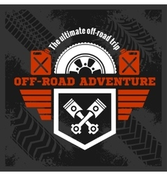 Off-road - grunge emblem and design elements vector