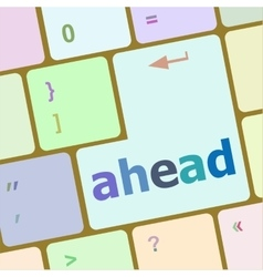Changes ahead concept with key on keyboard vector