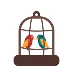 Bird in bird house vector