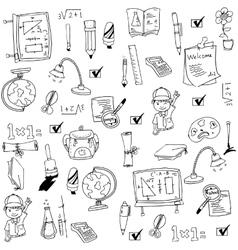 Art collection school doodles vector