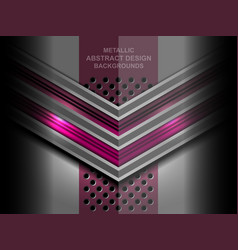 abstract metal geometric background vector image vector image