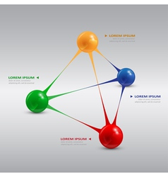 balls pyramide vector image