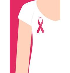 Breast cancer awareness cards design women wearing vector