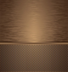brushed metal background vector image vector image