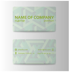 business card in individual style eps10 vector image vector image