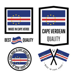 Cape verde quality label set for goods vector