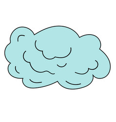 cloud in the sky vector image