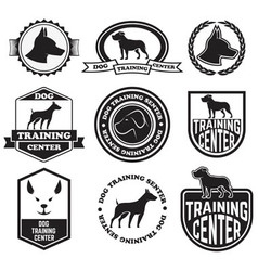Dog training senter vector