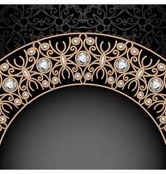 Gold jewelry background vector image vector image