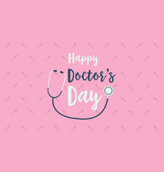 Greeting card world doctor day background vector