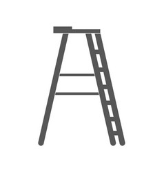 isolated ladder silhouette vector image