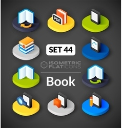 Isometric flat icons set 44 vector image