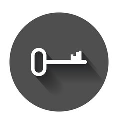 Key icon key flat with long shadow vector