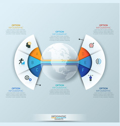 modern infographic design template 2 connected vector image