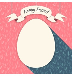 Pink Happy Easter Card vector image