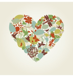 Plant heart vector image