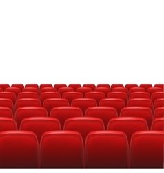 Red seats with screen vector