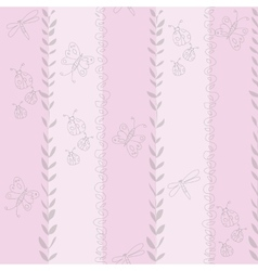 seamless pattern for girl Hand vector image