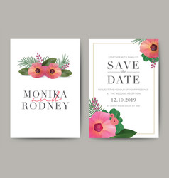 set of wedding card template background for vector image