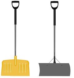Snow shovels set vector image vector image