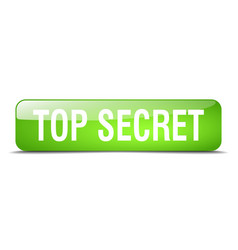 Top secret green square 3d realistic isolated web vector