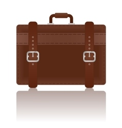 Travel Leather Suitcase vector image vector image