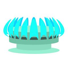 Turbine icon cartoon style vector