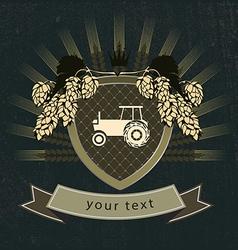 vintage agricultural logo vector image vector image