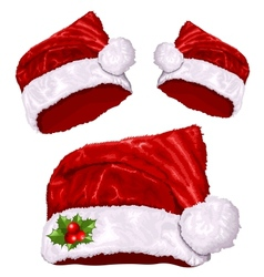 Christmas santas hat vector