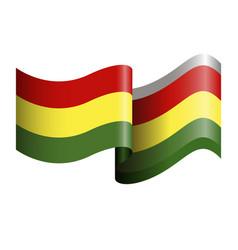 isolated flag of ghana vector image