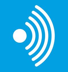 Wireless network symbol icon white vector