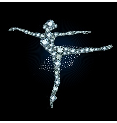 Diamond ballet dancer vector