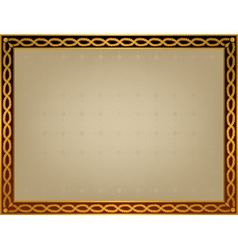 Frame with golden twirl vector