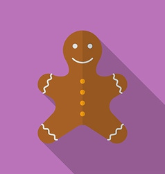 Icon of christmas gingerbread flat style vector